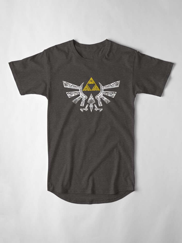 Vista alternativa de Camiseta larga Zelda - Doodle Hyrule