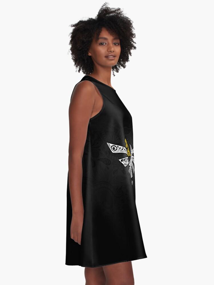 Alternative Ansicht von Zelda - Hyrule Gekritzel A-Linien Kleid