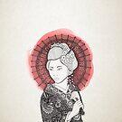 «Bandera japonesa y geisha» de artetbe