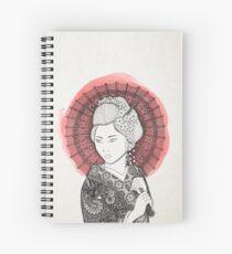 Bandera japonesa y geisha Cuaderno de espiral