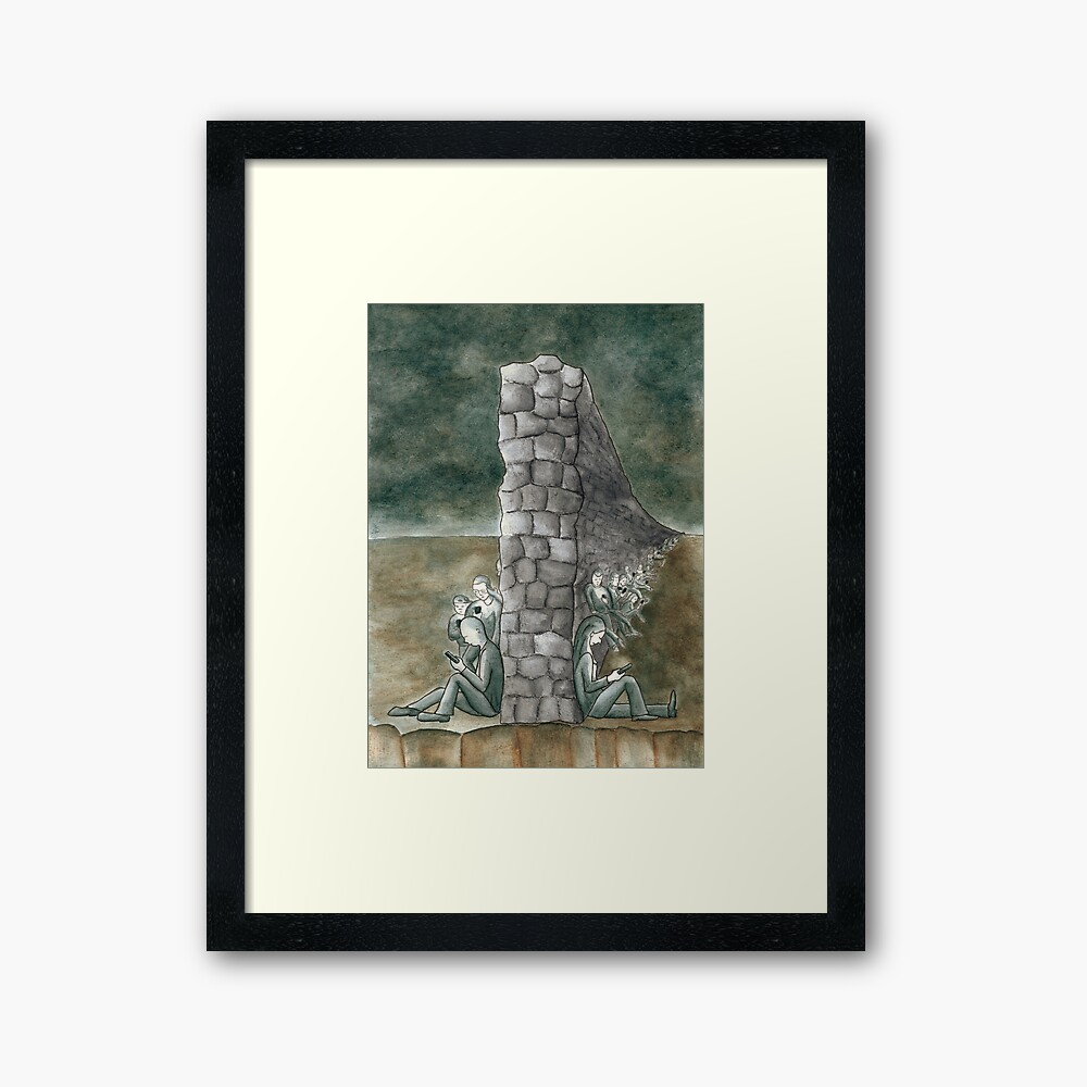 """The Wall We Built"" Framed Art Print"