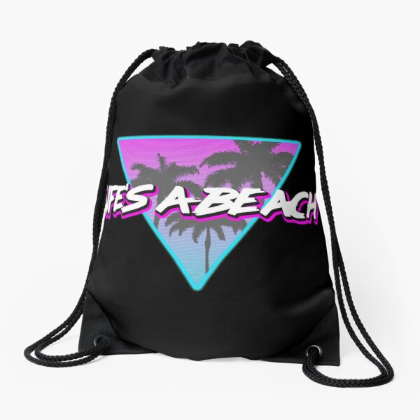 Life's a Beach Drawstring Bag