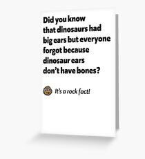 It's a rock fact! #2 Greeting Card