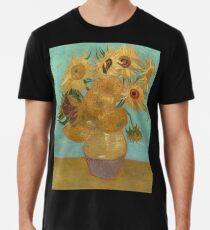 Vincent Willem van Gogh, 1889, Sonnenblumen / Vase mit zwölf Sonnenblumen, Öl auf Leinwand Artwork Premium T-Shirt
