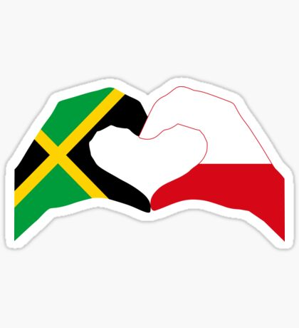 We Heart Jamaica and Poland Patriot Flag Series Sticker