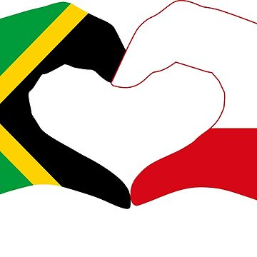 We Heart Jamaica and Poland Patriot Flag Series by carbonfibreme