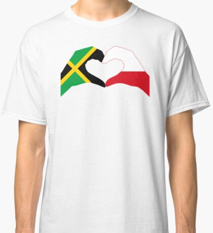 We Heart Jamaica and Poland Patriot Flag Series Classic T-Shirt