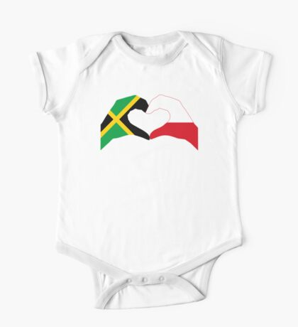 We Heart Jamaica and Poland Patriot Flag Series Kids Clothes