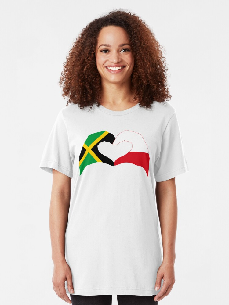 Alternate view of We Heart Jamaica and Poland Patriot Flag Series Slim Fit T-Shirt
