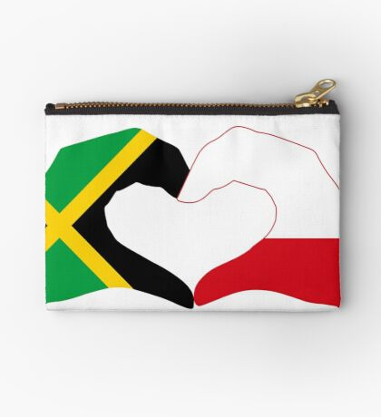 We Heart Jamaica and Poland Patriot Flag Series Zipper Pouch