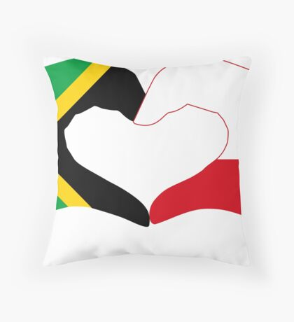 We Heart Jamaica and Poland Patriot Flag Series Floor Pillow
