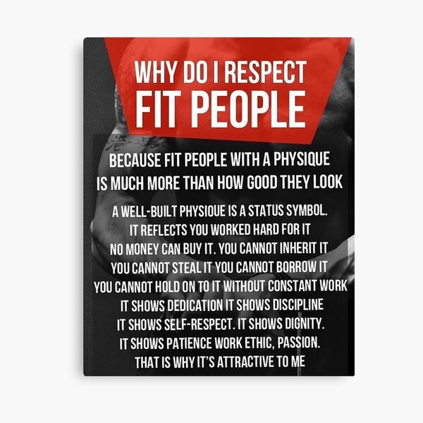 Why Do I Respect Fit People Canvas Print