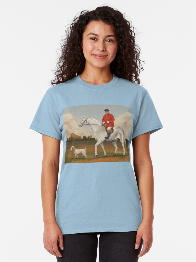 Alternate view of Bob on horse with dog Classic T-Shirt