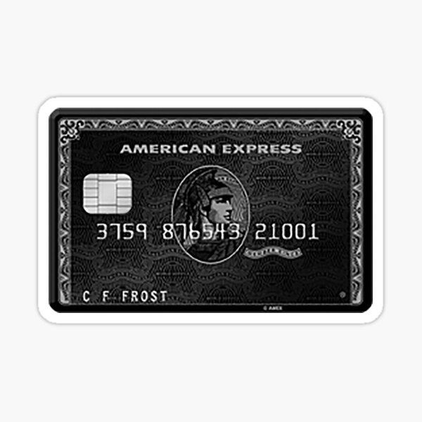 Black Card Sticker