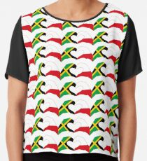 We Heart Jamaica and Poland Patriot Flag Series Chiffon Top