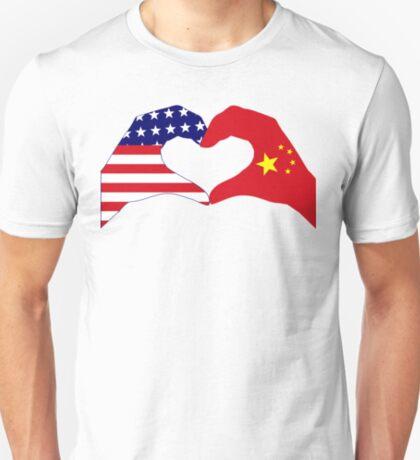 We Heart U.S.A. and China Patriot Flag Series T-Shirt