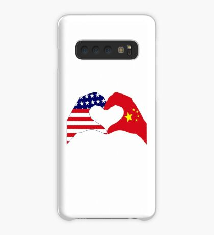 We Heart U.S.A. and China Patriot Flag Series Case/Skin for Samsung Galaxy