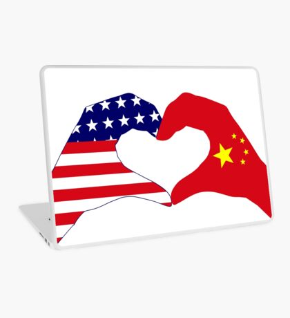 We Heart U.S.A. and China Patriot Flag Series Laptop Skin
