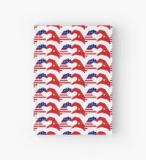 We Heart U.S.A. and China Patriot Flag Series Hardcover Journal