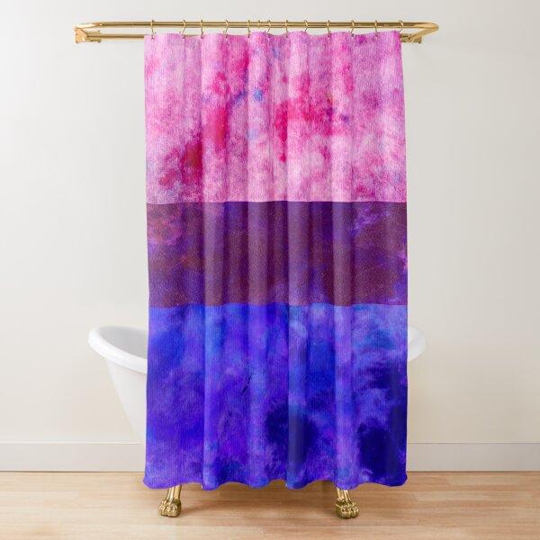 Bisexual Pride Digital Quilt Shower Curtain