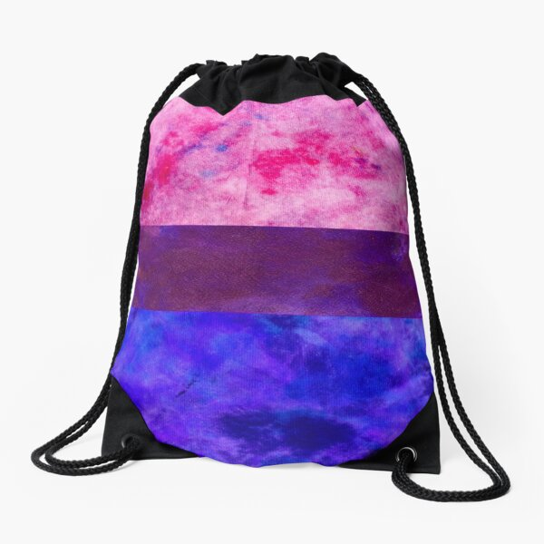 Bisexual Pride Digital Quilt Drawstring Bag