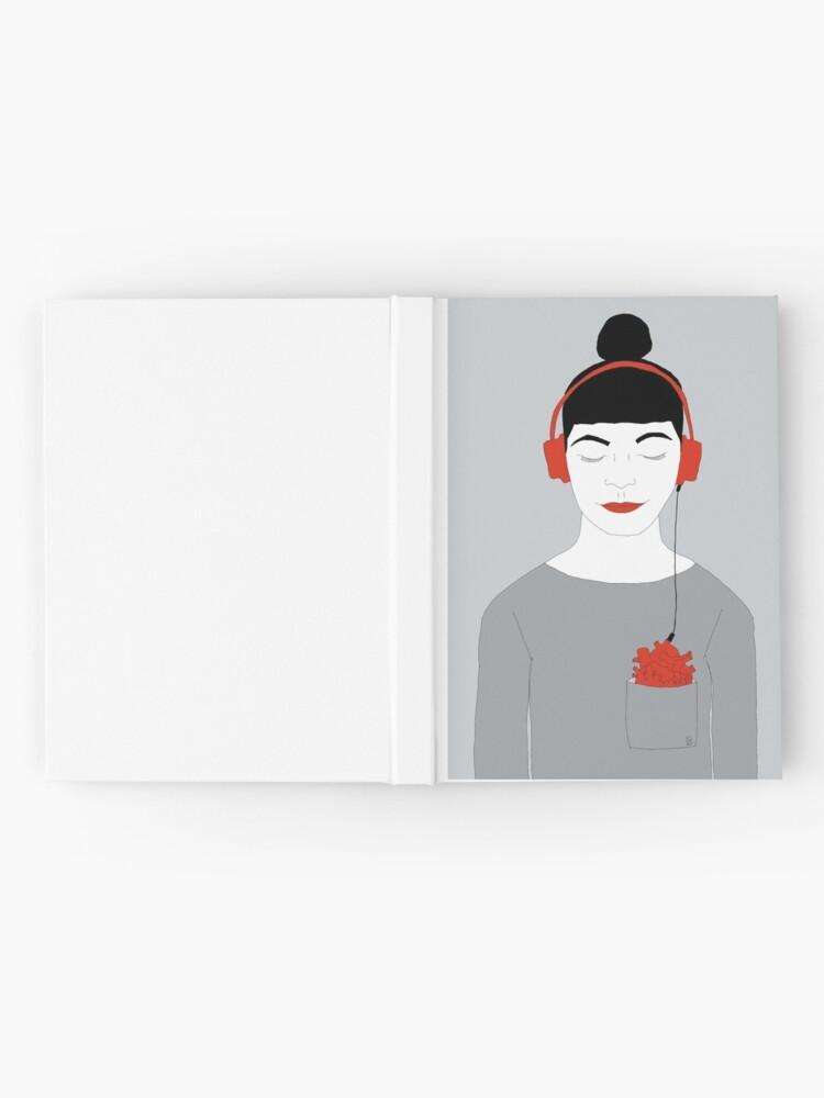 Alternative Ansicht von Listen to your heart Notizbuch