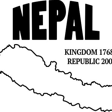 Federal Democratic Republic of Nepal (Black) by CreativeCole