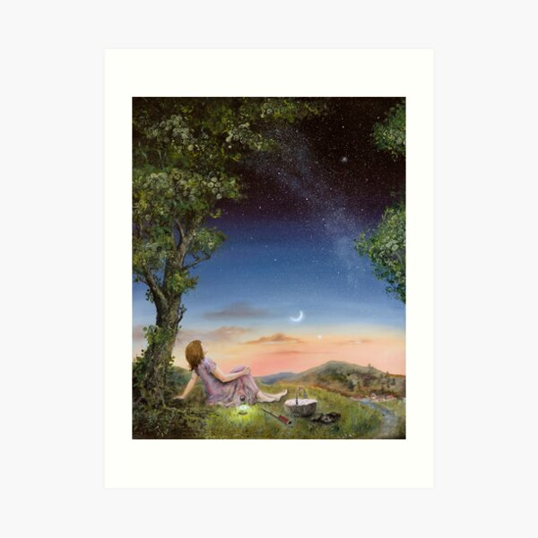 The Astronomy picnic Art Print