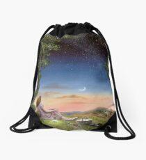 The Astronomy picnic Drawstring Bag