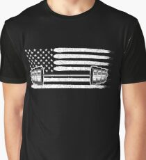American Flag Dumbbell Graphic T-Shirt