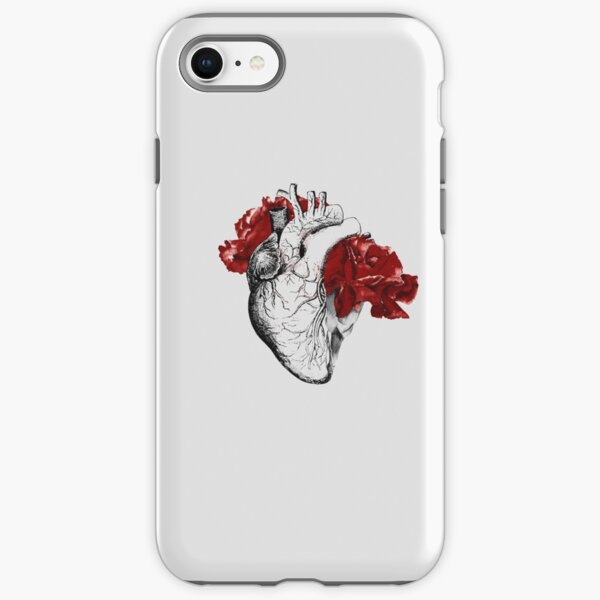 Anatomical Heart With Red Flowers iPhone Tough Case