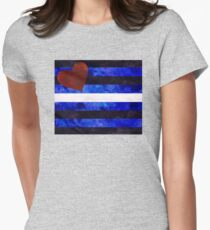 Leather Pride Digital Quilt Women's Fitted T-Shirt
