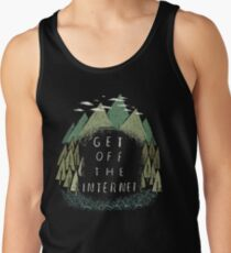 get off the internet Tank Top