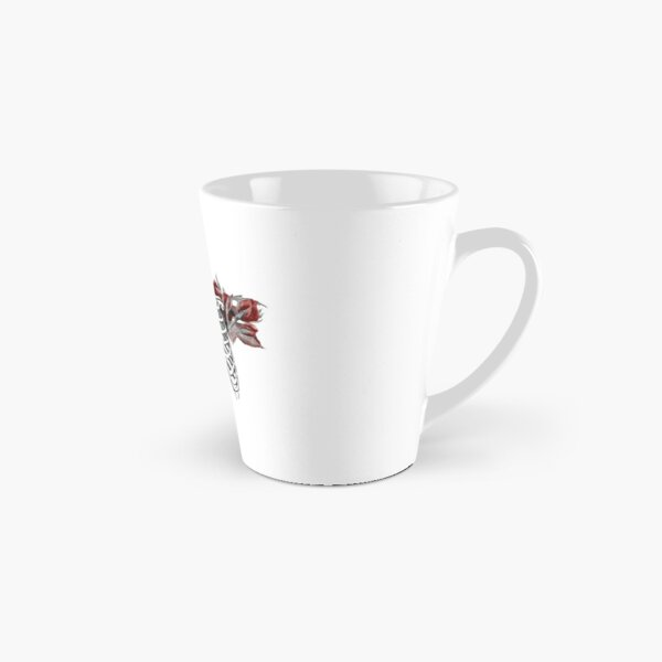Skeleton Ribcage with Red Floral Blooms Tall Mug