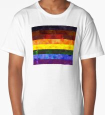 Inclusive Pride Digital Quilt Long T-Shirt
