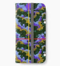 Parboiled Universe in Blue and Purple iPhone Wallet/Case/Skin