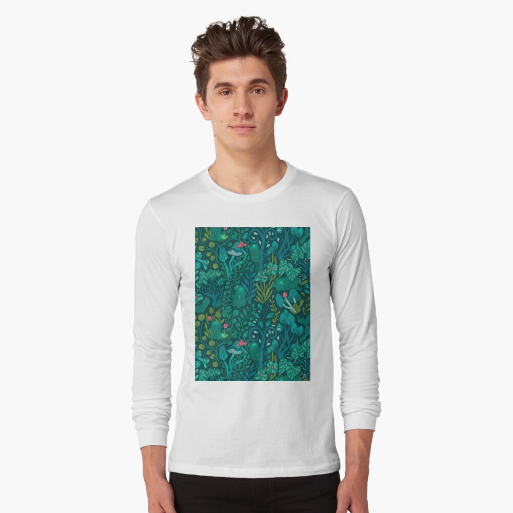 Emerald forest keepers. Fairy woodland creatures. Long Sleeve T-Shirt