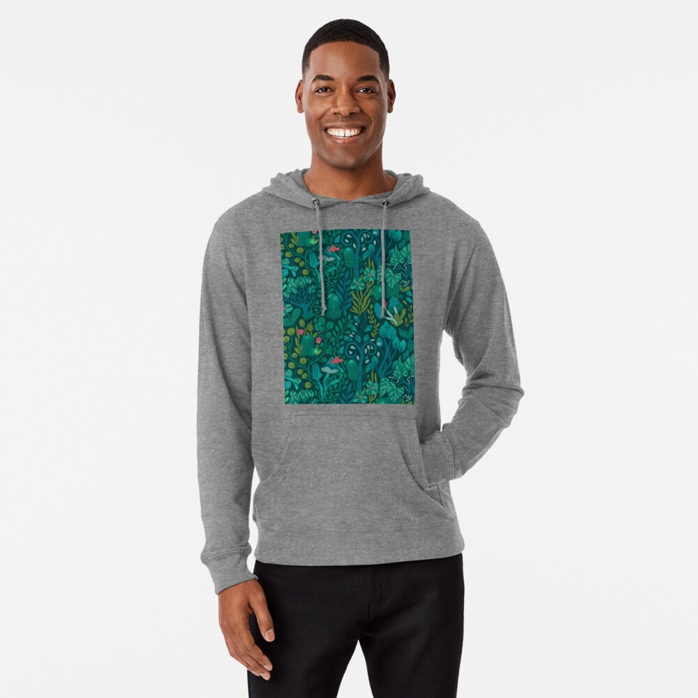 Emerald forest keepers. Fairy woodland creatures. Lightweight Hoodie