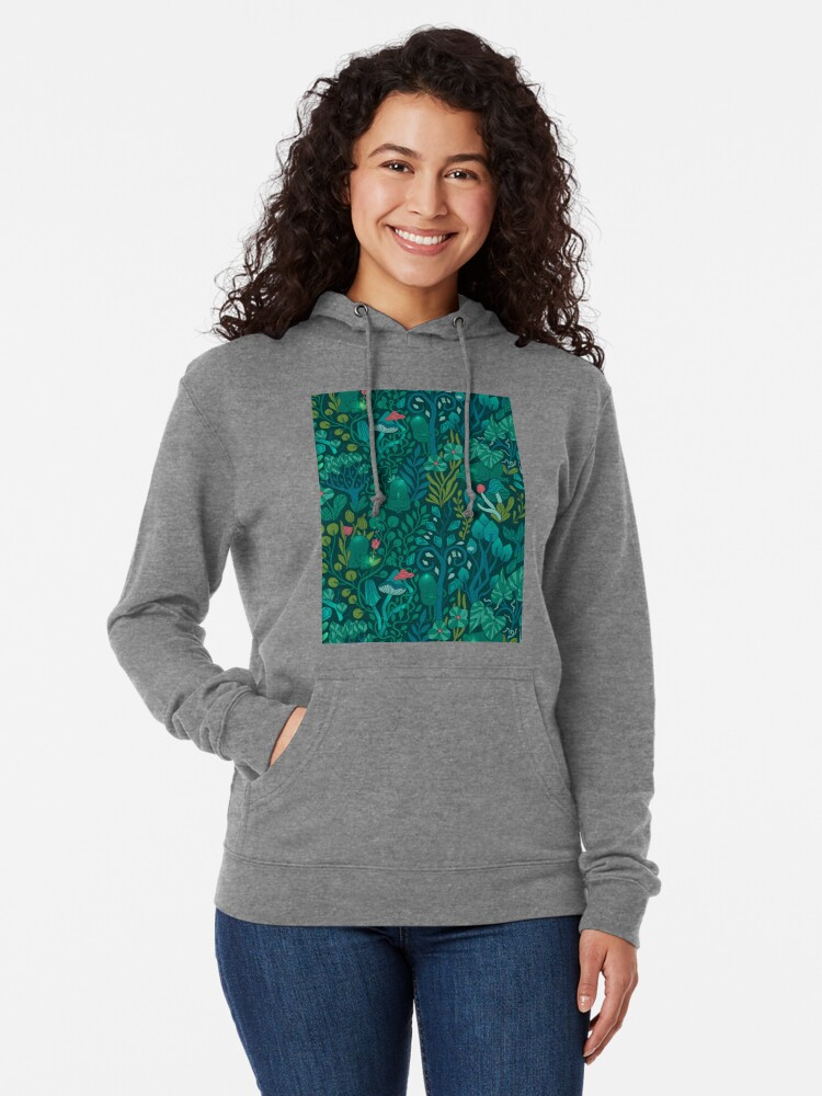 Alternate view of Emerald forest keepers. Fairy woodland creatures. Lightweight Hoodie