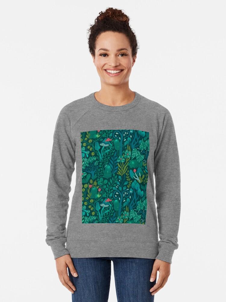 Alternate view of Emerald forest keepers. Fairy woodland creatures. Lightweight Sweatshirt