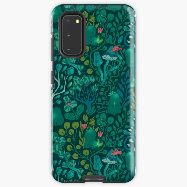 Emerald forest keepers. Fairy woodland creatures. Tree, plants and mushrooms Samsung Galaxy Tough Case