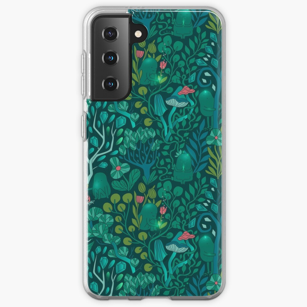 Emerald forest keepers. Fairy woodland creatures. Tree, plants and mushrooms Case & Skin for Samsung Galaxy