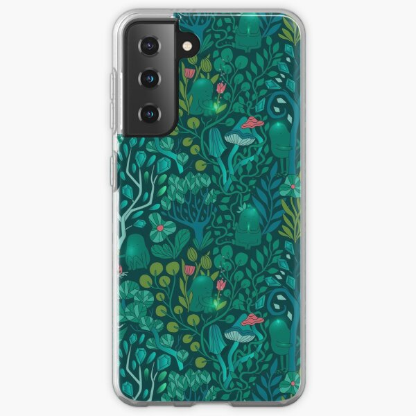 Emerald forest keepers. Fairy woodland creatures. Tree, plants and mushrooms Samsung Galaxy Soft Case