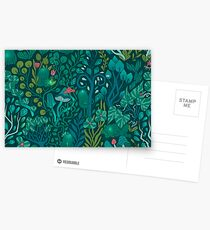 Emerald forest keepers. Fairy woodland creatures. Postcards