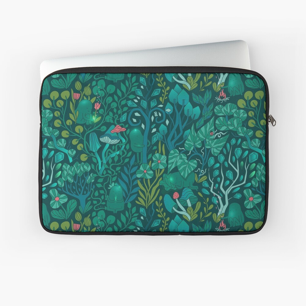 Emerald forest keepers. Fairy woodland creatures. Laptop Sleeve