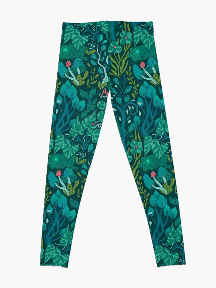 Alternate view of Emerald forest keepers. Fairy woodland creatures. Leggings