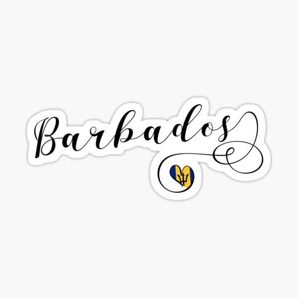 Barbados Heart Flag, Barbadian Sticker