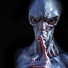 Alien creature hushing by 3DArtRebel