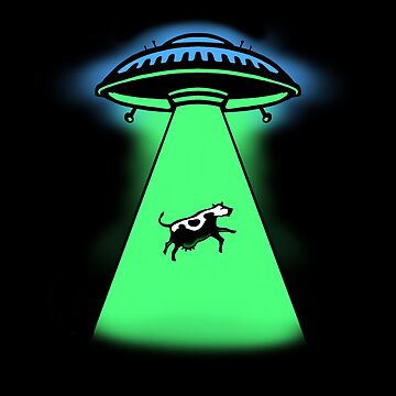 Spaceship Alien Cow Abduction by DOODL