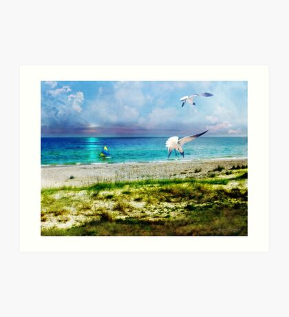 On Canvas Wings I Fly Art Print